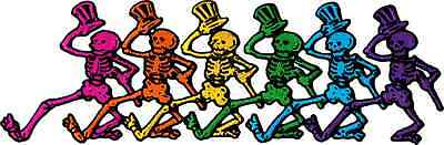 """89027 Grateful Dead Dancing Skeletons Rock Music Band 60s LARGE 9"""" Iron On Patch"""