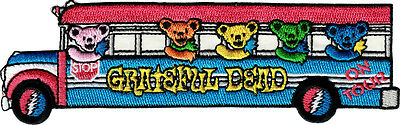 29012 Grateful Dead Jerry Bears Tour Bus Deadheads Music Band 60s Iron On Patch