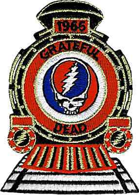 6896 Grateful Dead 1965 Train Logo Steal Your Face Jerry Garcia Iron on Patch