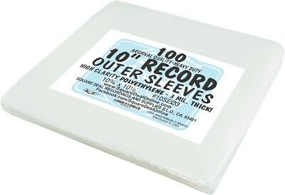 """(100) 10SE03 10"""" Record LP Outer Sleeves Vinyl Outersleeves 3mil High Clarity EP"""