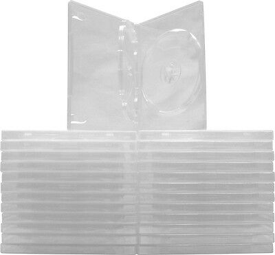 (25) DV3R14CL Clear Triple 3 DVD 3DVD Cases Boxes SLIM 14mm Wrap Around Sleeve