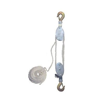 GRIP 2 TON Rope Pulley Hoist 2500LBS Wheel Block and Tackle Wild Game 18095 NEW