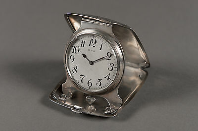 Antique Swiss Sterling Silver Decorated Traveling Clock