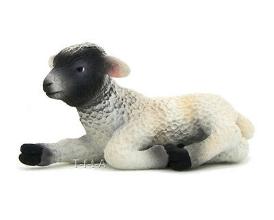 FREE SHIPPING | Mojo Fun 387060 Black Faced Lamb Lying Replica - New in Package