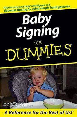 Baby Signing for Dummies by Jennifer Watson Paperback Book (English)
