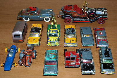 Lot of 14 Matchbox Lesney & Corgi Cars for Spares and Repairs DB5 Chitty etc