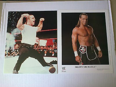 WWF WWE SHAWN MICHAELS official unsigned racing reflections + P1070 PROMO photo