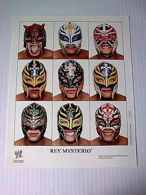 WWF WWE REY MYSTERIO official unsigned WWE photo P-1093