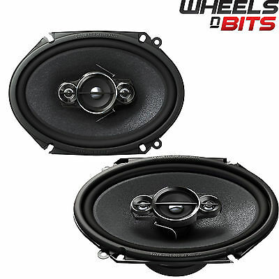 "Pioneer TS-A6834i 6"" x 8"" 3-way Custom Fit Coaxial Car Audio Speakers 350W"