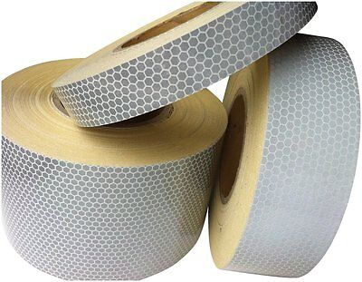 White High Intensity Reflective Tape (25mm,50mm & 100mm * 1m,2m,2.5m,3m,4m & 5m)