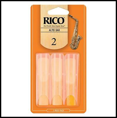Rico Alto Saxophone Reeds  Reed Strength 2  3-pack Number 2 x 3 reeds
