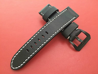 New Model! Real Leather Watch Strap for 24/22mm Luxury Watch (Glow in the dark)