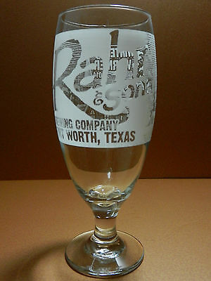 Rahr & Sons Winter Warmer 2014 Etched Beer Glass Fort Worth Texas Craft Brewery