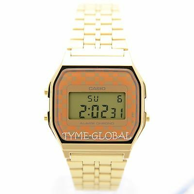Casio A159WGEA-9A Classic Gold Tone Stainless Steel Digital Vintage Unisex Watch