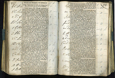 1812 - Silver Inventory, and cuttings book - vellum - manuscript, handwritten
