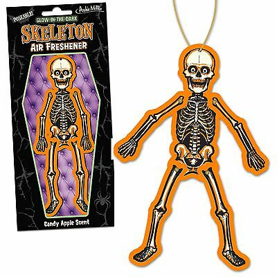 Archie Mcphee Skeleton Air Freshener Car Gift Fun Kitsch Retro Novelty Skull Roc