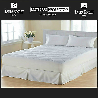 Laura Secrets Luxury Quilted Mattress Protector Topper Cover ALL SIZES