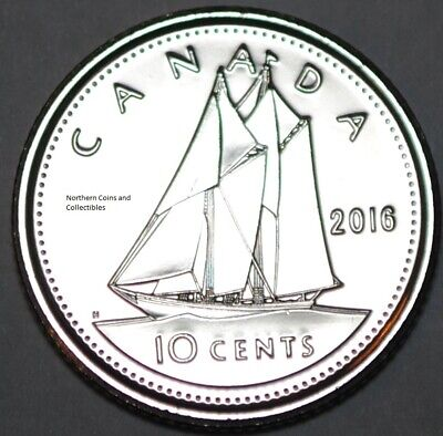 Canada 2016 BU Nice UNC 10 cent Canadian Dime from mint roll