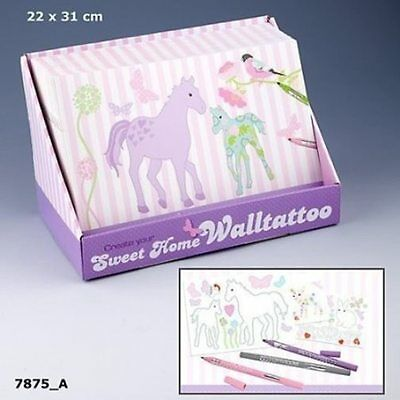 Depesche 7875_A Sweet Home Wand-Tattoos zum Ausmalen