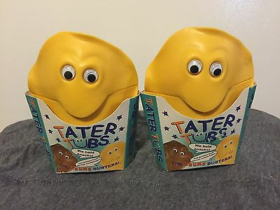 NEW TATER TUBS French Fries in Container Food Figurine POTATO 1999 ARONSON