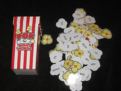 Pop for Sightwords Popcorn Game Reading Home school Educational toy