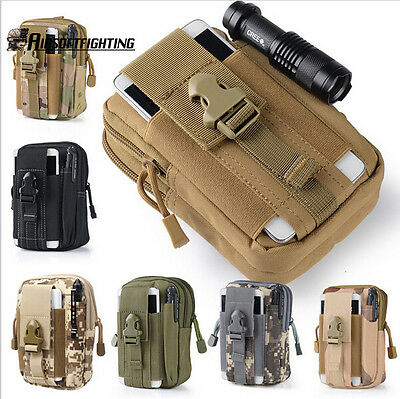 Molle Hip Waist Belt Bag Wallet Pouch Purse Phone Case Zipper for iPhone/LG/HTC