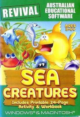 Sea Creatures Educational Computer Game for Kids Age 3 -6+ Memory Concentrate