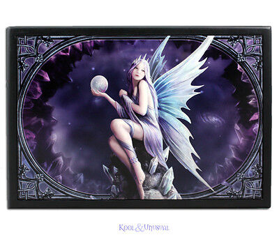 """Anne Stokes Extra Large Jewellery Box: """"Stargazer"""" Fairy with Crystals and Orb"""