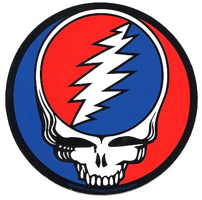 """GRATEFUL DEAD steal your face 5"""" STICKER -black outline **FREE SHIPPING** decal"""