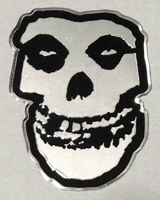 MISFITS chrome metal skull STICKER **FREE SHIPPING** -c s7767m crimson ghost