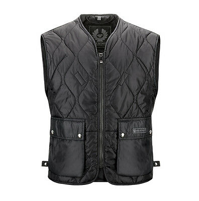Belstaff Lambfell Quilted Gilet Black Moto Motorcycle Motorbike Vest | All Sizes