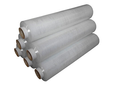 1 2 3 6 12 18 24 x  STRONG QUALITY CLEAR PALLET STRETCH WRAP 400mm 16""