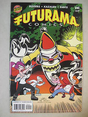 Futurama Comics #40 Bongo Comics Group Leela Fry Amy Robot Santa Cover