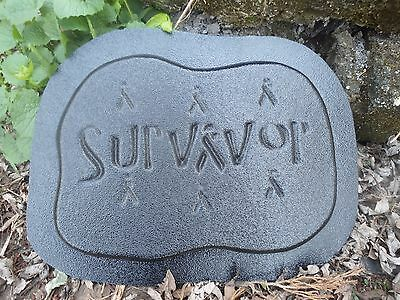 """Plastic cancer plaque mold garden 9.5/""""W x 7/""""H x 3//4/"""" thick"""