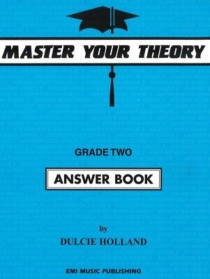 Master Your Theory Grade Two Answer Book by Dulcie Holland *NEW* 2, Blue, Music