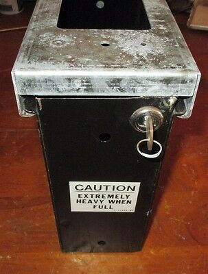 Rowe Bc-3500 Bill Changer Machine Coin Bucket / Box 2-51944-01 W/ Lock & Key,guc
