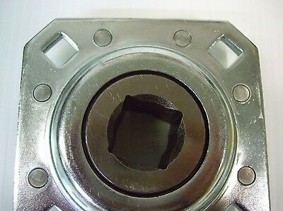 "Disc Harrow Sealed Bearing w/ 1"" SQ Bore Hole 4 Bolt Pattern DHU1-208 ST208-1N"