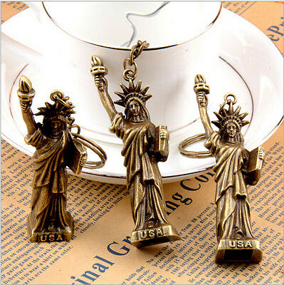 Statue of liberty keychain,NYC souvenir.USA tourism key ring,American love gift