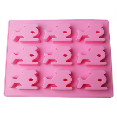 Whiskey Ice Cube Maker Mold Airplane Mould Party Tray Silicone Mold