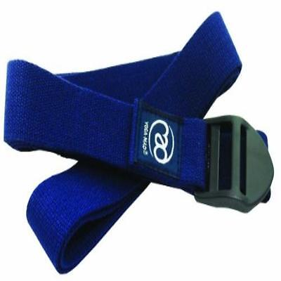 Yoga Mad Yoga Cotton Belt 250Cm Blue Training Sporting Goods Fitness Strength N