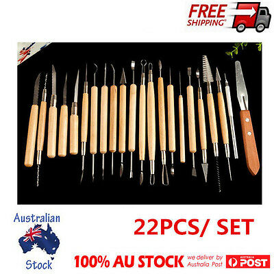 22Pcs Needle Polymer Clay Pottery Ceramics Sculpting Carving Modeling Tools Set