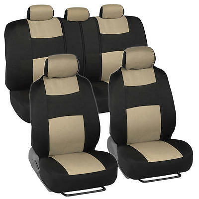 Car Seat Covers for Chevrolet Cruze 2 Tone Beige & Black w/ Split Bench