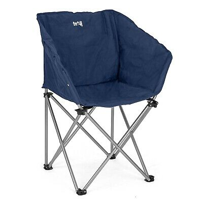 Folding Camping Tub Chair Heavy Duty Padded Fishing Moon Seat Portable Outdoor