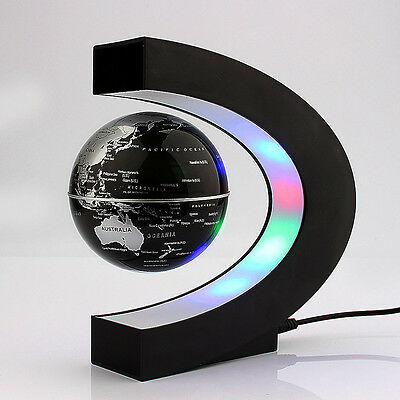 LED World Map Floating Globe Magnetic Levitation Light Antigravity Magic Novel