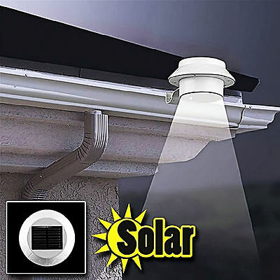 5x Solar Powered 3 LED Fence Gutter Light Outdoor Garden Wall Lobby Pathway Lamp