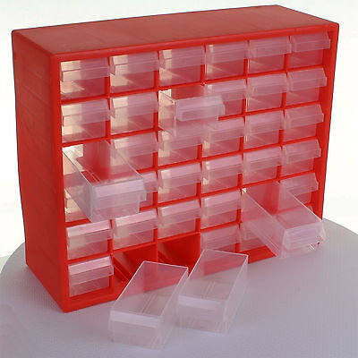 36 Drawer Tool Organiser Screw Nut Bolt Nail Fixings Storage Chest Garage Shed & MULTI DRAWER CABINET Storage Chest Garage Organiser Screw Nail Bolt ...
