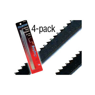 """Zona Coping saw blades 20TPI (4) 163mm (6.5"""") between pins"""