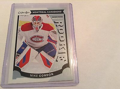 15-16 2015-16 O-Pee-Chee Mike Condon Rookie Rc U26 Montreal Canadiens