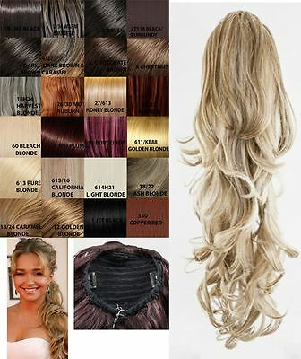 Womens Drawstring Clip In Curly/wavy Ponytail Double Volume Hair Extensions 001