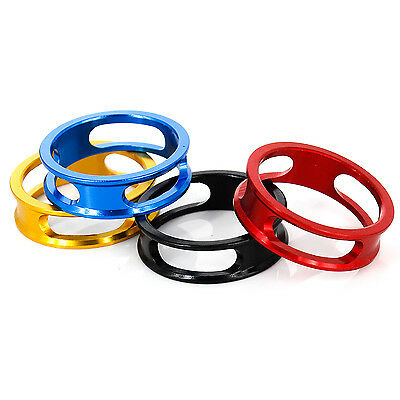 """MTB Bike Bicycle Cycling Aluminum Stripe Headset Washer Stem Spacer 1-1/8"""" 10mm"""